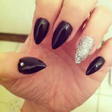 black and silver stiletto nails nails pinterest beauty nails