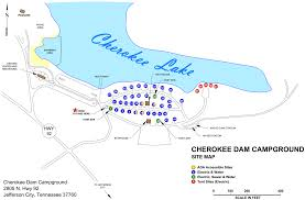 Douglas Arizona Map by Campground Map Cherokee Dam Campground