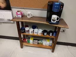 Coffee Maker Table Live Edge Walnut Coffee Maker Table Album On Imgur