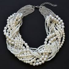 multi statement necklace images Pearl twist necklace multi strand pearl statement necklace by jpg