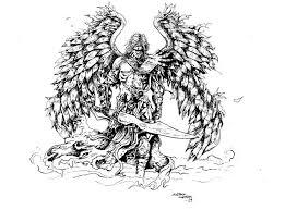 archangel urijel by darth vanya on deviantart lineart angels