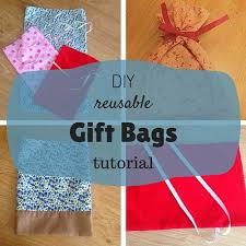 cloth gift bags diy reusable gift bags tutorial keeping it real