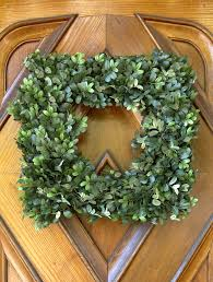 decorating square boxwood wreath artificial for paint front door