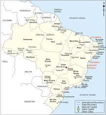 city map of brazil brazil city map