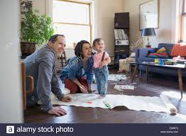 young couple room young couple drawing in living room stock photo royalty free