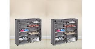 amazon shoe storage cabinet amazon grey 7 tier shoe rack 42 pair portable shoe storage cabinet