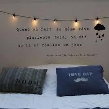 guirlande lumineuse d馗o chambre sticker citation demain je me lève de bonheur stickers citations