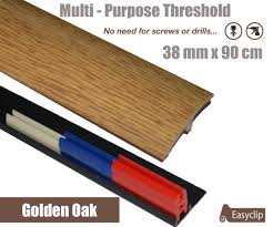 Door Strips For Laminate Flooring Golden Oak Adhesive Laminated Door Threshold Strip 38mm X 90cm