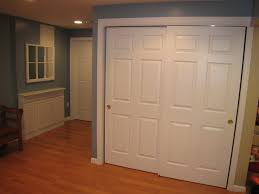 Painting Sliding Closet Doors Interior Delectable Walk In Closet Design Using Wooden White