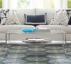 Tanner Rectangular Coffee Table Polished Nickel Finish Pottery Barn