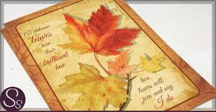 autumn wedding invitations rustic autumn wedding invitations