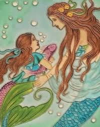 Mermaid Home Decor Merman Couple Art Signed Robert Kline Matted 5