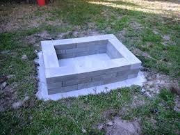 Block Firepit Inspiring Square Block Pit Ideas Fireplaces Firepits