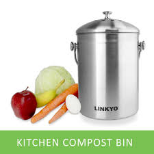 kitchen compost image of food waste in kitchen compost pail