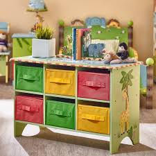Sunny Safari Bookcase Fantasy Fields Sunny Safari Portable 6 Compartment Cubby With Bins
