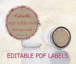 editable printable jar labels mason jar labels editable labels for mason jars editable