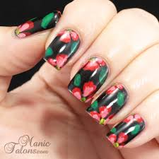 manic talons gel polish and nail art blog not one stroke flower