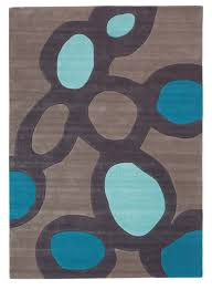 Capel Area Rug by Furniture Deluxe Grey Microfiber Contemporary Area Rugs With Blue