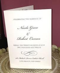 Booklet Wedding Programs Elegant Ceremony Programs Await The Guests Vintage Wedding Ideas