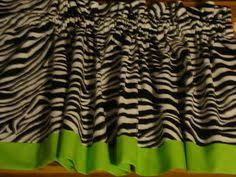 Zebra Valance Curtains Zebra Valance Window Curtain Topper W Lime Green New Ebay