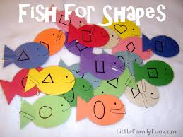 15 activities for learning shapes fish activities fish and