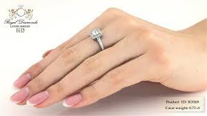 inele logodna aur alb inel de logodna aur alb 18kt cu diamant princess diamante