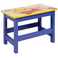 winnie the pooh wooden desk stool writing drawing homework table