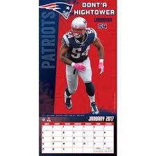 new england patriots 2017 mini wall calendar bob s stores new england patriots 2017 mini wall calendar assorted