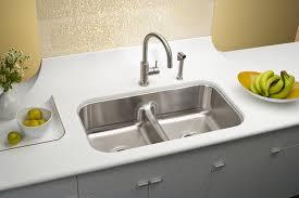 Elkay Undermount Kitchen Sinks Elkay Gourmet Aqua Divide Bowl Undermount Sink
