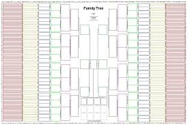 11 Generation Family Tree Template 10 generation smaller chart blank charts a smaller