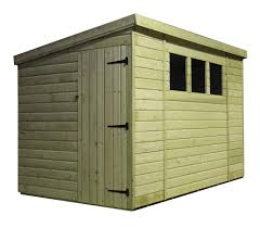 amusing 10 x 8 pent shed plans with natural solid wood originalviews
