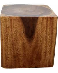 wood cube end table bargains 30 off sustainable monkey pod wood cube end table livos
