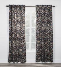 geometric print curtains window toppers