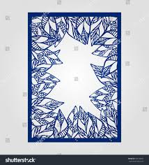 abstract cutout panel laser cutting stencil stock vector 476198461