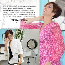 behind the scenes with hair style expert and salon owner carole