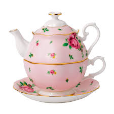 royal albert new country roses pink tea for one royal doulton