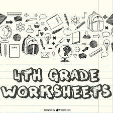 4th grade worksheets math reading writing science