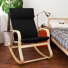 Rocking Chair Gliders Amazon Com Sobuy Wood Relaxing Rocking Chair Gliders Lounge Chair