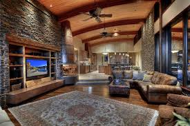 The Living Room Scottsdale Traditional Living Room With Ceiling Fan U0026 Stone Fireplace In