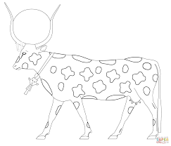 hathor as a cow coloring page free printable coloring pages