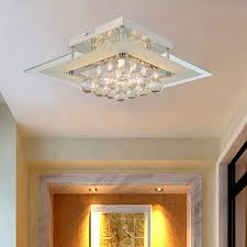 flush ceiling lights living room oofay light simple and elegant crystal light 5 head crystal
