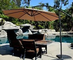Patio Umbrella Wedge Offset Patio Umbrella Beige 10 Quality Patio Umbrellas Market