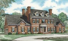 brick colonial house plans impressive brick exterior and column entry add to the grandeur of