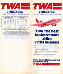 Piedmont Airlines Route Map by Airline Timetables Twa October 1976