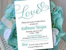 bridal lunch invitations bridal shower invitation template heart wedding shower