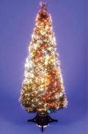 Fibre Optic Slim Christmas Trees - indoor fibre optic slim christmas tree amazon co uk kitchen u0026 home