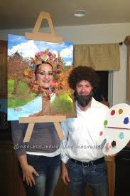 Tree Halloween Costumes Minute Halloween Couple Costume Bob Ross Happy