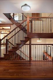 metal landing banister and railing i like this outside stair railing concepts staircase craftsman