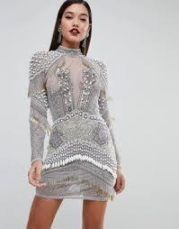 embellished dress sequin dresses women s embellished party dresses asos