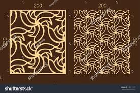 laser cutting set woodcut vector trellis stock vector 710711317